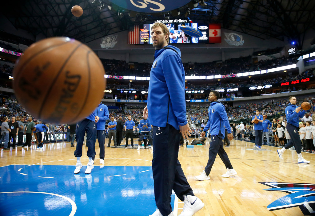 Will Dirk Nowitzki serve as the Mavs' sixth man in his 21st NBA season?