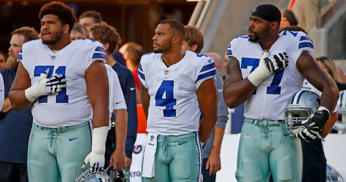 Troy Aikman counters backlash to Cowboys QB Dak Prescott's national anthem comments