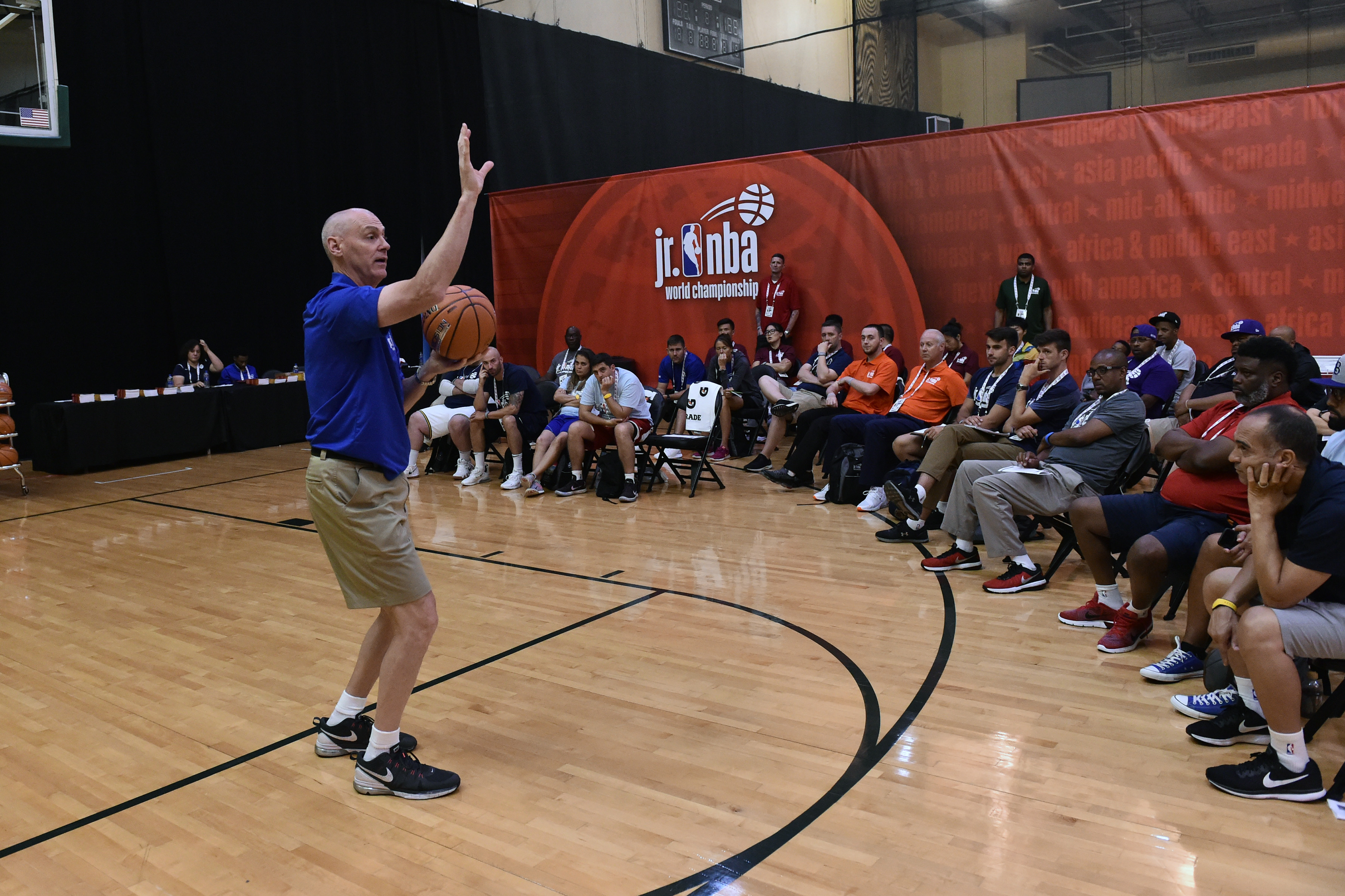 Mavericks coach Rick Carlisle is a guiding force at the Jr. NBA World Championship in Orlando, a 'celebratory melting pot' of basketball