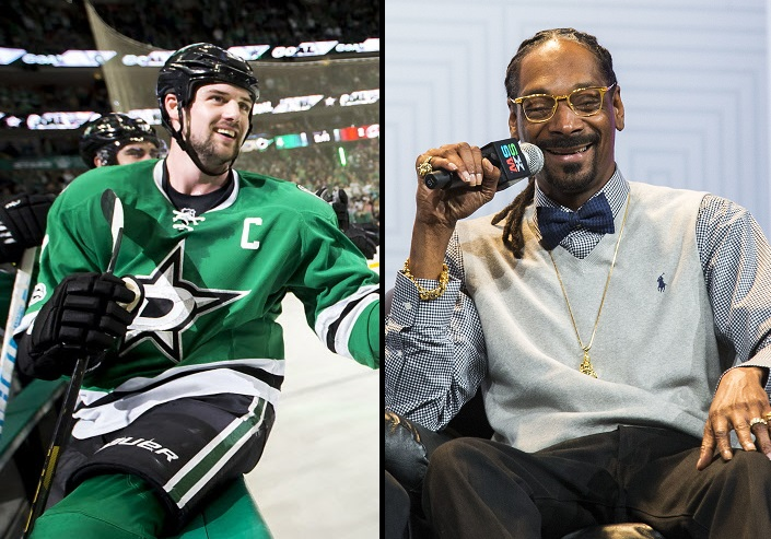 That custom Stars jersey Snoop Dogg posted on Instagram? Jamie Benn gave it to him.
