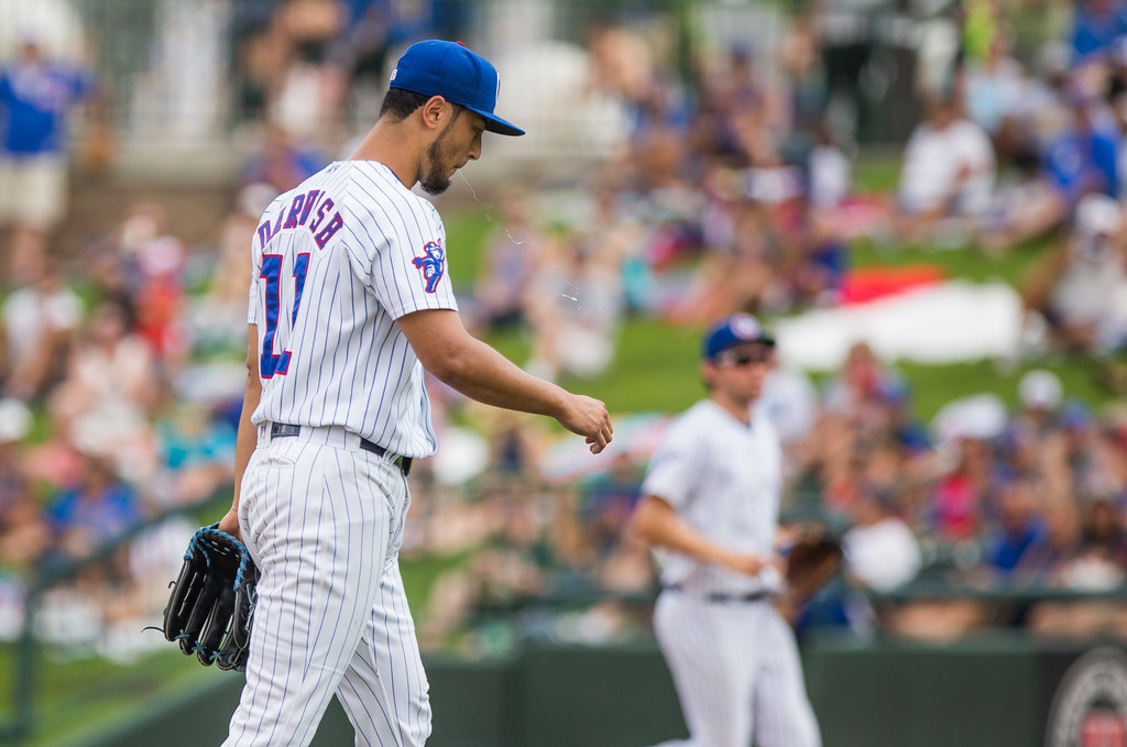 Early exit in rehab start for Cubs' Yu Darvish puts availability for rest of season in doubt