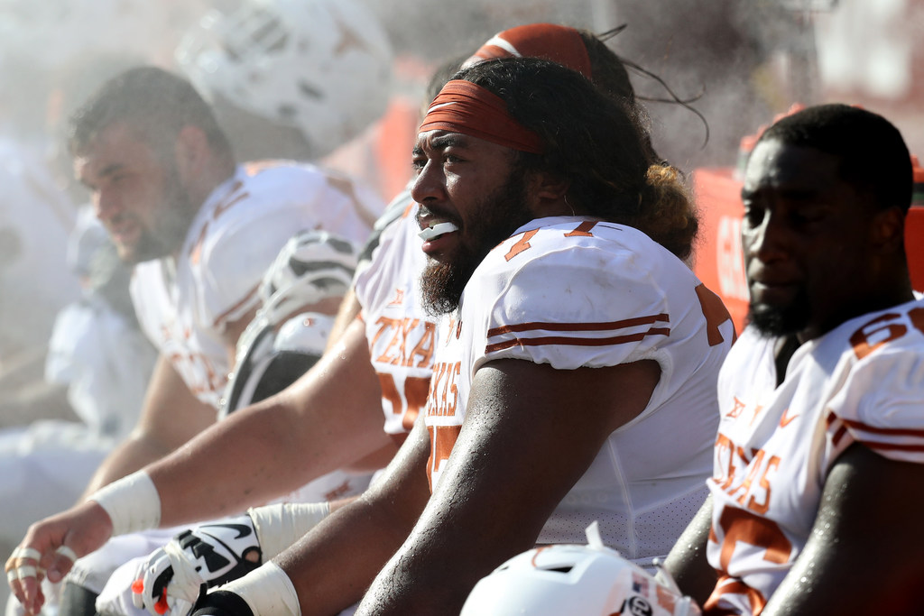 Texas bounced out of latest AP college football poll; Oklahoma rises a spot; TCU stays put; A&M receives votes