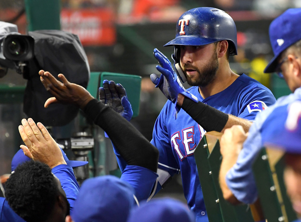 Joey Gallo homers for Rangers' lone run in loss to Angels