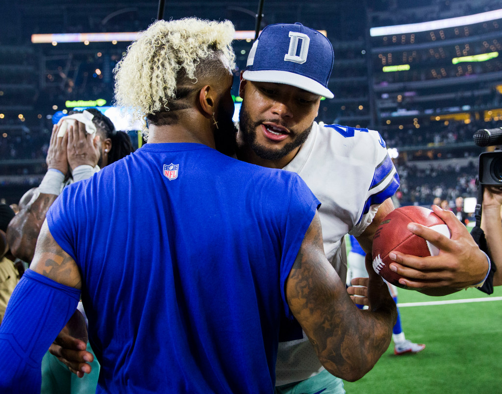 What Giants WR Odell Beckham Jr. told Dez Bryant before Cowboys game