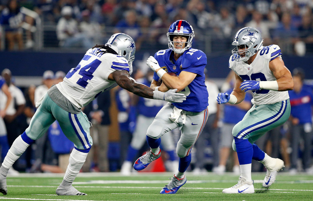 Cowboys LB Jaylon Smith wins NFL Way to Play Award for hit on Giants QB Eli Manning