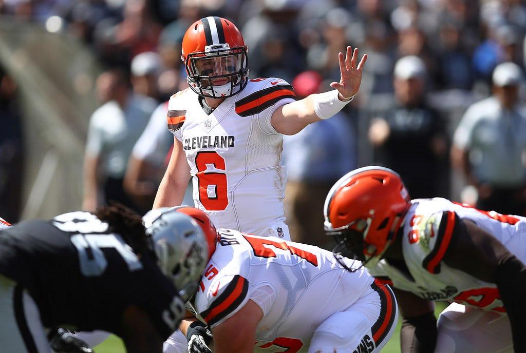 WATCH: Baker Mayfield throws first career NFL touchdown