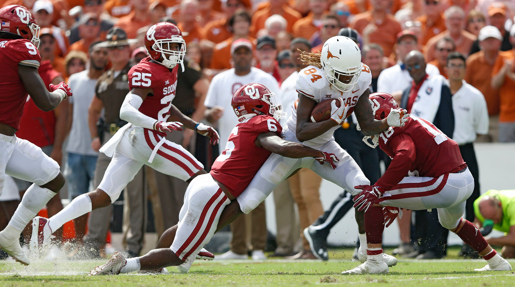 'Culture play' from Lil'Jordan Humphrey give Texas an extra jolt of power during upset of Oklahoma