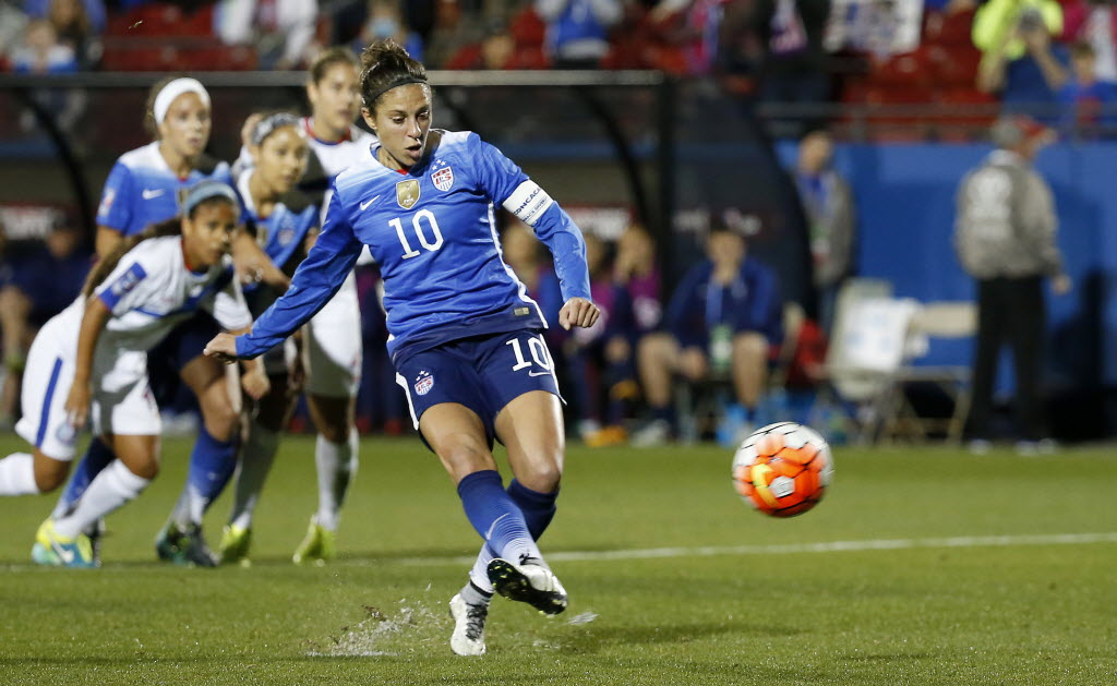 Carli Lloyd's hat trick leads USWNT past Panama inCONCACAF World Cup qualifying tournament