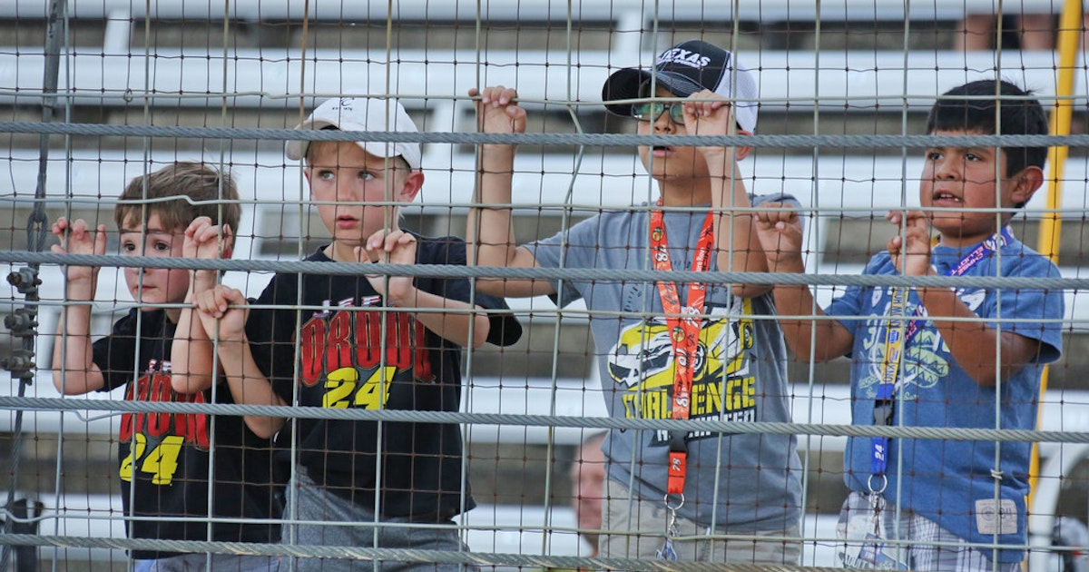 Texas Motor Speedway borrowing from dirt tracks with kids-only
