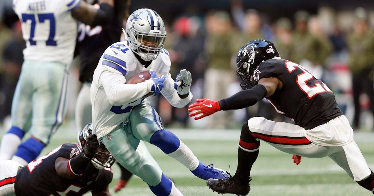 98f372ed8ef Dallas Cowboys: Cowboys RB Ezekiel Elliott certainly didn't feel left out  this time around vs. Falcons | SportsDay