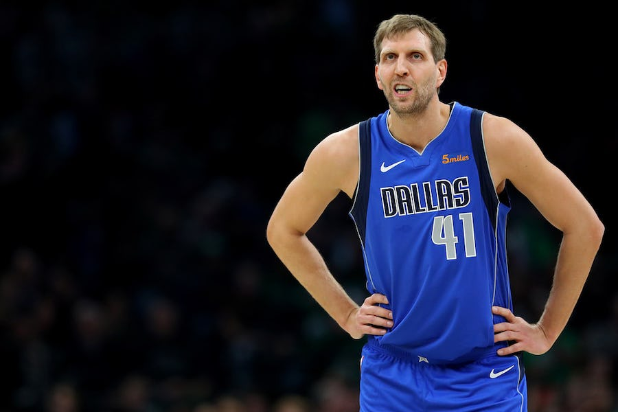 b51c2b427c7 Watch: Boston fans chant 'We Want Dirk' in what is likely Nowitzki's last  regular-season game at TD