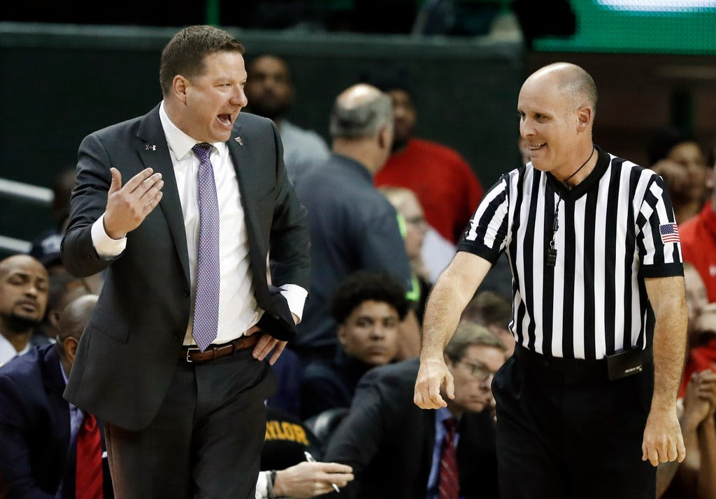 Did Chris Beard get an official explanation on late flagrant foul call in Texas Tech loss? Maybe: 'I wasn't in a great mindset'