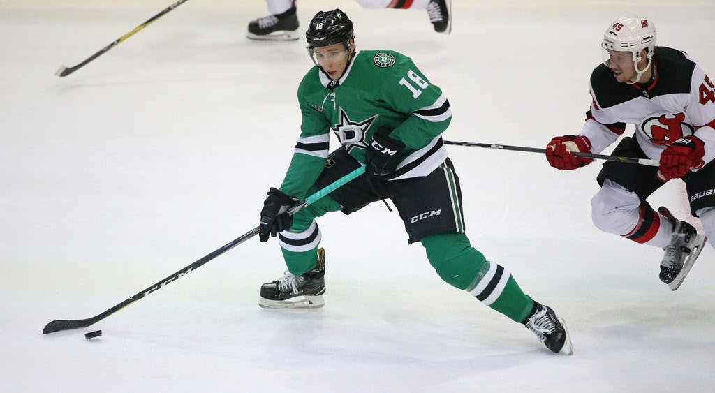 Stars forward Tyler Pitlick out weeks with upper-body injury