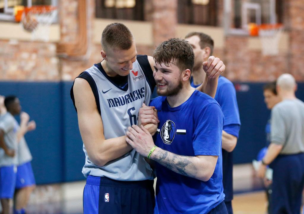 233f4c23b0a Dallas Mavericks: Mark Cuban: Mavericks' goal is to keep Kristaps Porzingis,  Luka Doncic together 'for 20 years' | SportsDay