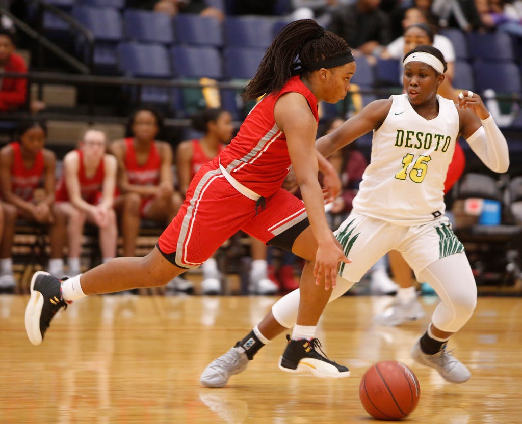 Girls basketball playoffs: Freshmen spark DeSoto's rout of Irving MacArthur; defending state champ Plano advances to face district rival Prosper