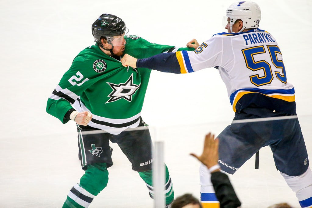 Stars notebook: Brett Ritchie throws down vs. Blues, Ben Bishop returns in backup role