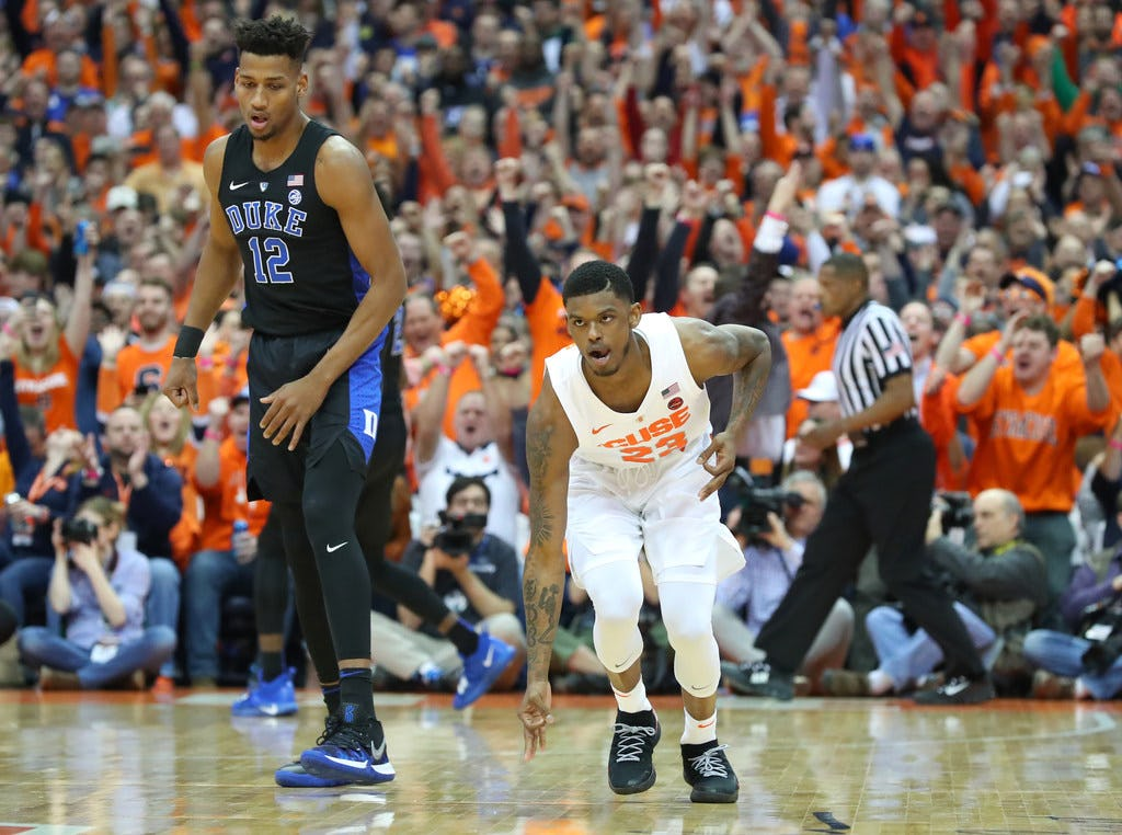 Syracuse player who tripped Zion Williamson suspended indefinitely for NCAA tournament, out for first-round vs. Baylor
