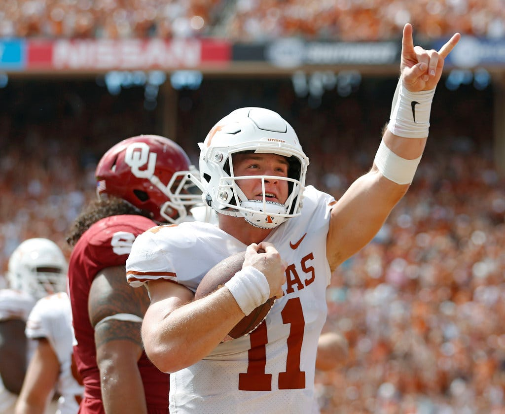 Texas QB Sam Ehlinger takes shot at Texas A&M upon arrival back from spring vacation