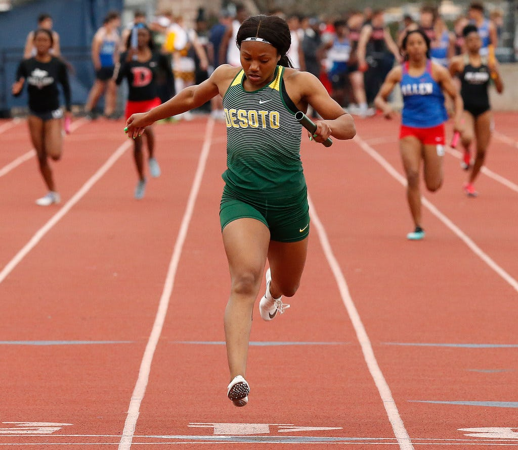 Jesuit-Sheaner Relays: DeSoto girls build on nation-leading 4x100 time, Plano East standout shines in boys 100