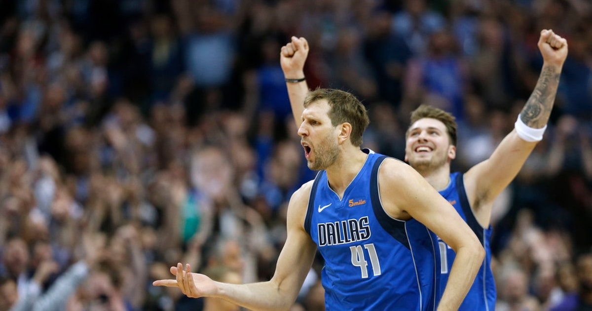 e5a7f766be7 Dallas Mavericks: 'It's just been amazing, being with Dirk': After another  triple-double, Luka Doncic reflects on rookie year playing with Nowitzki |  ...