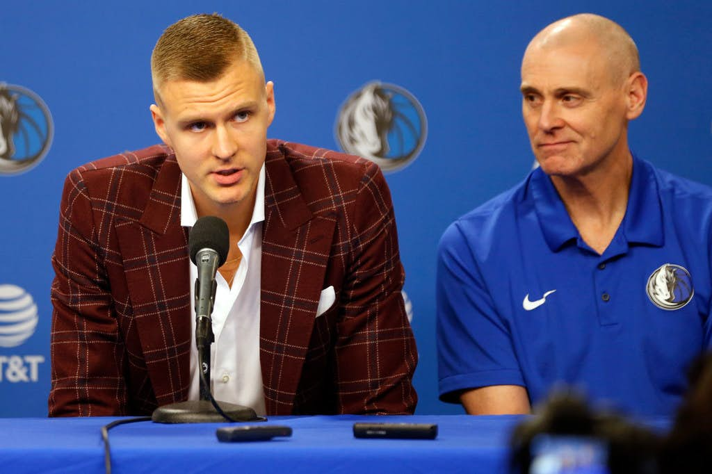 ae8796aa5af Kristaps Porzingis is back in Dallas