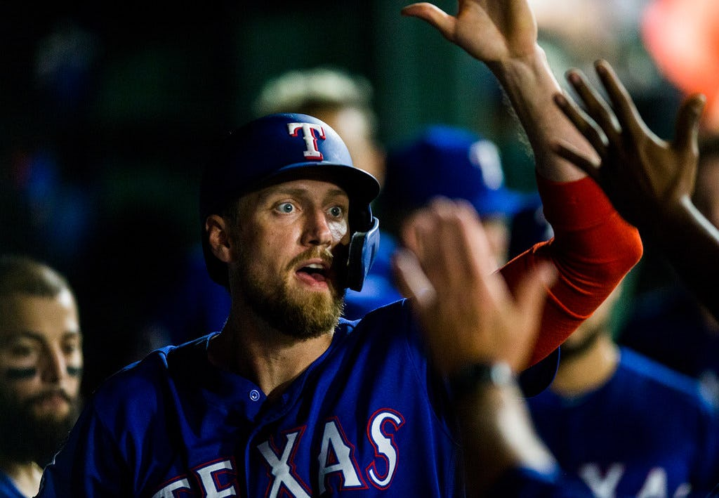 Hunter Pence is eligible for the MLB Comeback Player of the Year award, and right now he's a strong contender