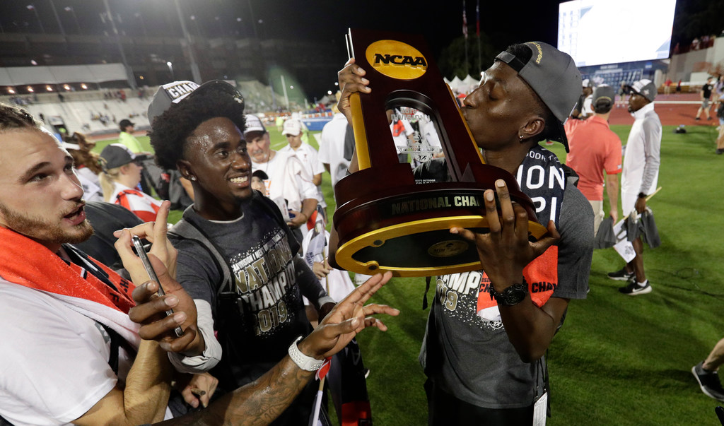 Image result for Bringing it home: Tech men win NCAA track and field championship