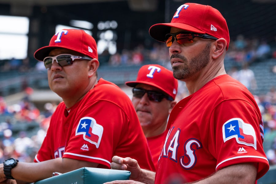 Who will start for the Rangers the next time the No. 5 spot in the pitching rotation comes up?