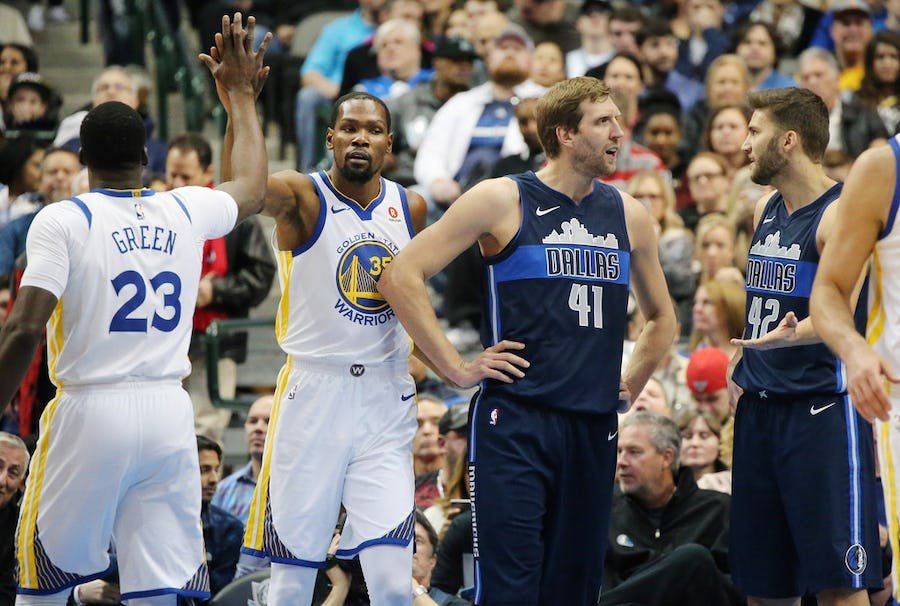 Dirk Nowitzki shares thoughts on Kevin Durant, Klay Thompson injuries and Toronto's NBA Finals win