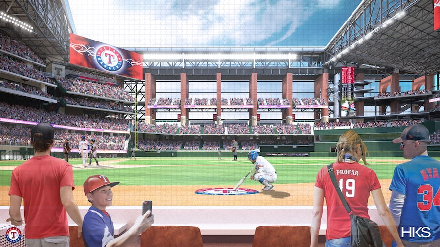 Rangers unveil new renderings for Globe Life Field, including looks at home-plate box seats and team's weight room | SportsDay