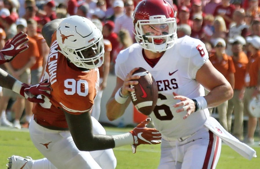 Baker Mayfield delivers strong takes on Texas as a national title contender and QB Sam Ehlinger | SportsDay