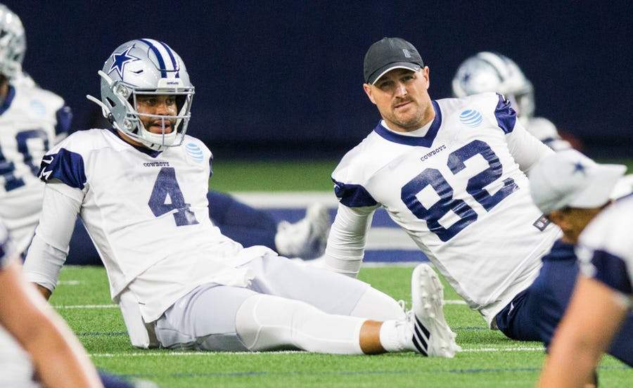 Here's the most intriguing Cowboys training camp storyline involving Dak Prescott | SportsDay