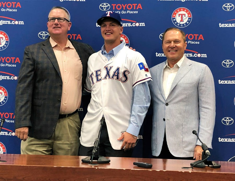 Rangers first-round pick Josh Jung promoted to Class A Hickory after just four games in the Arizona Rookie League | SportsDay