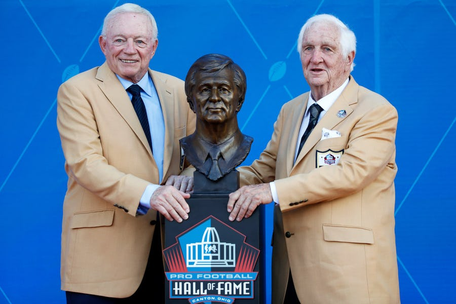 Gil Brandt's Pro Football Hall of Fame induction speech had everything, including a playful jab at Cowboys owner Jerry Jones   SportsDay