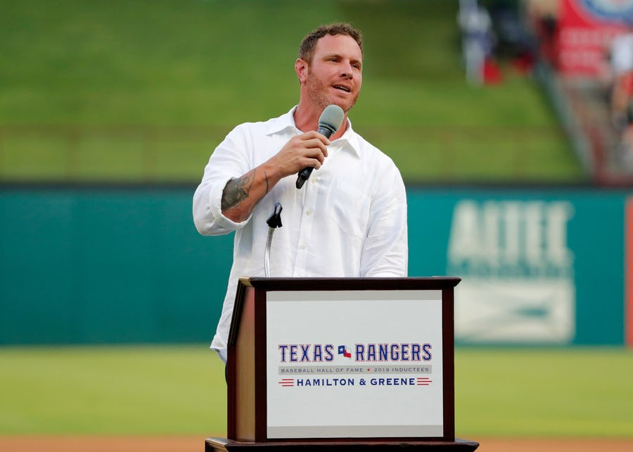 Josh Hamilton's enshrinement in Rangers Hall of Fame was a time of reflection, regret and one last ovation | SportsDay