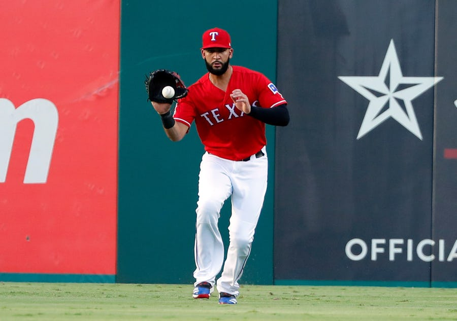 Rangers' Nomar Mazara, Danny Santana leave Monday night's game with injuries | SportsDay