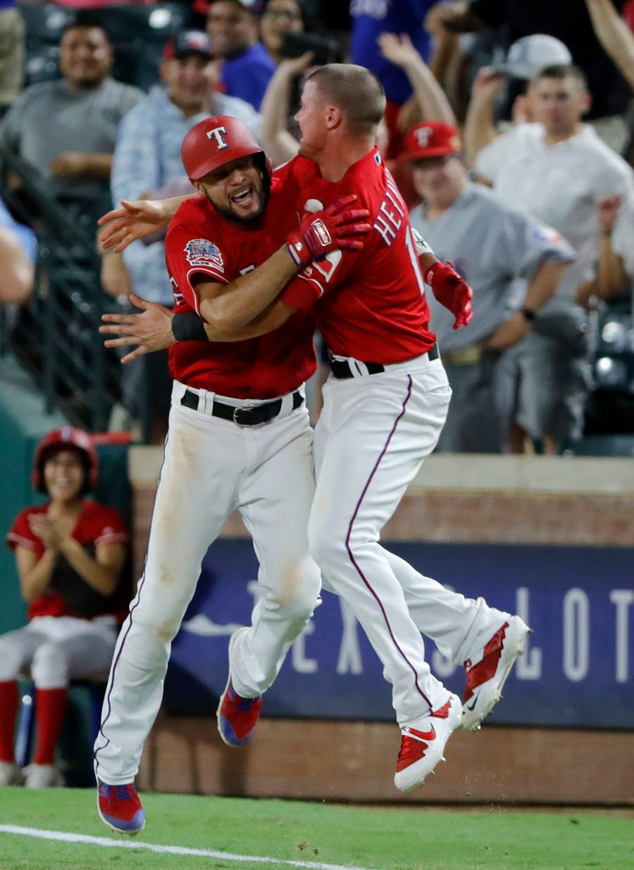The Rangers beat the Angels with a walk-off infield single in one of the season's longest, grittiest games | SportsDay