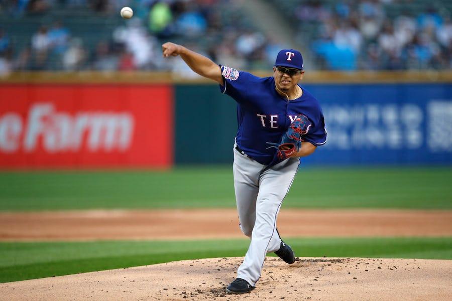 Scoreboard overshadows Ariel Jurado's complete game as Rangers drop series-opener vs. White Sox | SportsDay