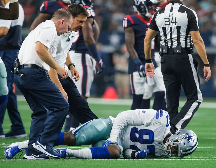Cowboys DE Taco Charlton to have ankle evaluated after exiting twice during strong night vs. Houston   SportsDay