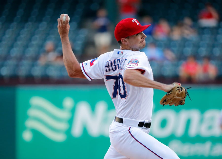 Rangers rookie pitcher Brock Burke shares how he felt before his MLB debut, who has the best chicken sandwich | SportsDay