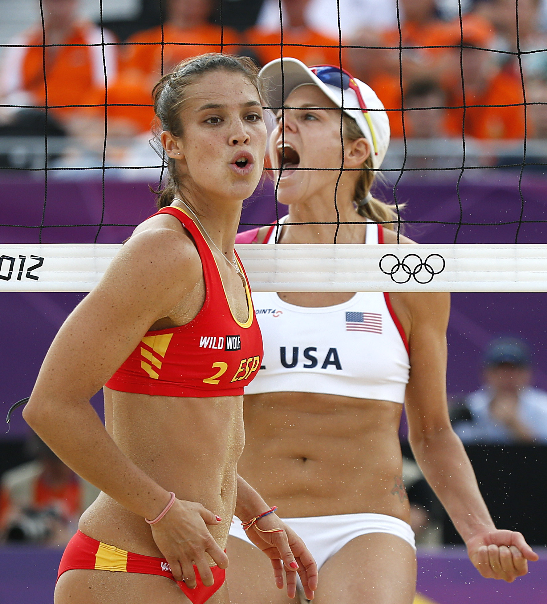 Other Sports Photos U S Tops Spain In Beach Volleyball Pool Play Sportsday