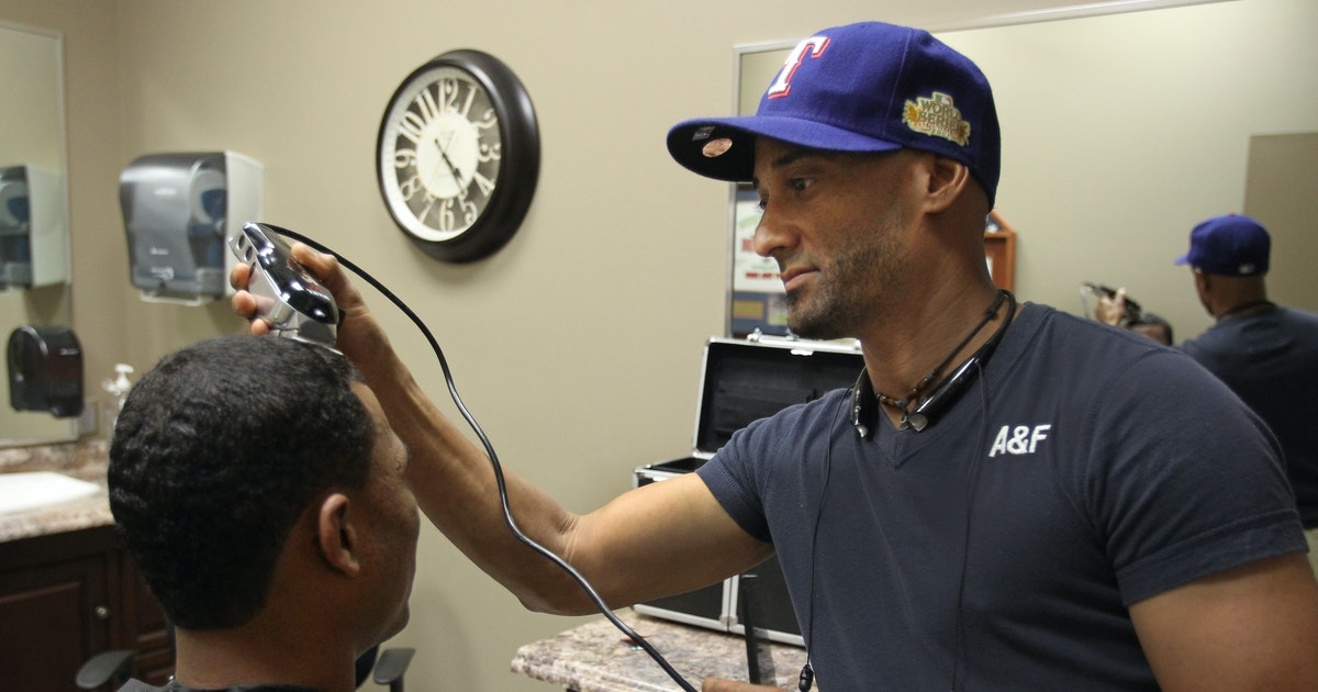 Texas Rangers Thanks To Arlington Barber Rangers Can Take Their
